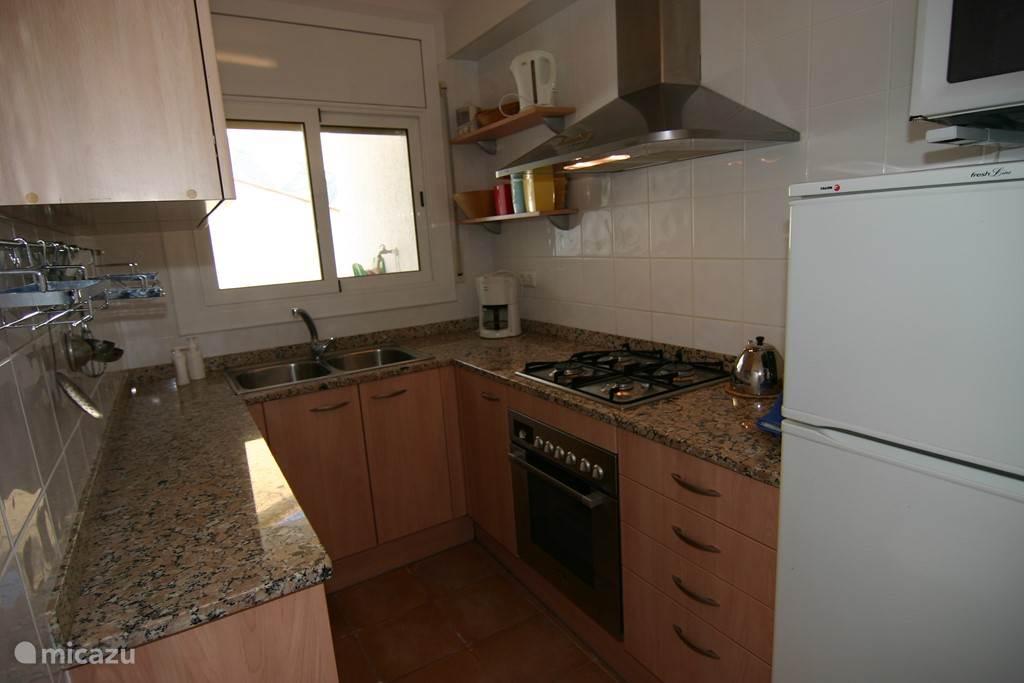 De keuken is compleet.
