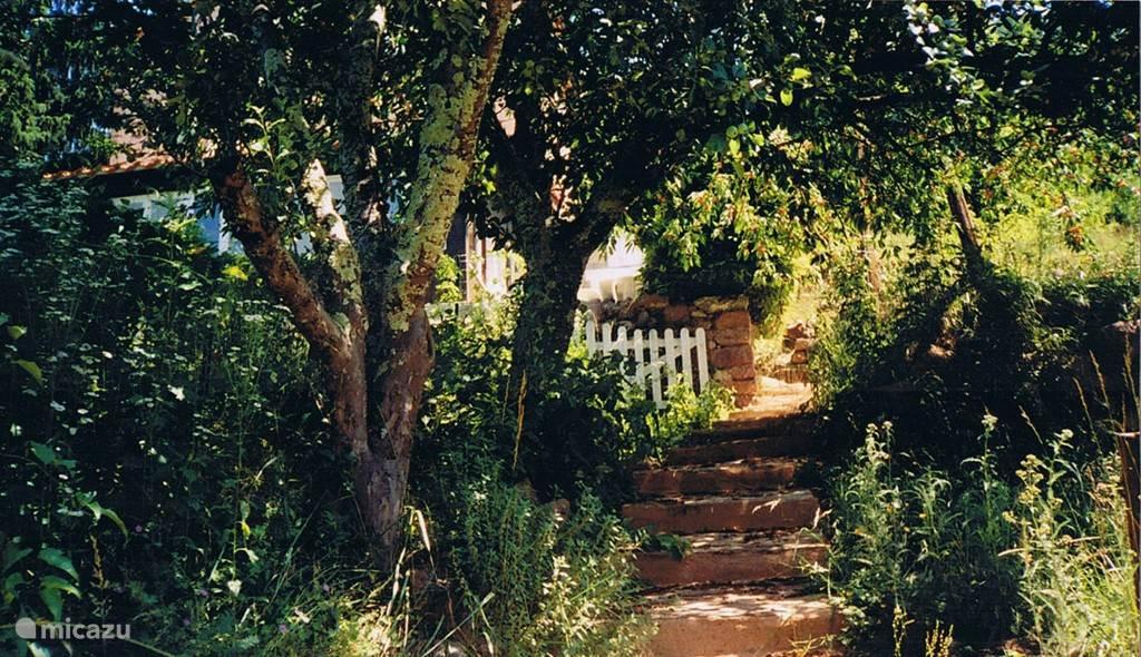 De trap naar het dorp