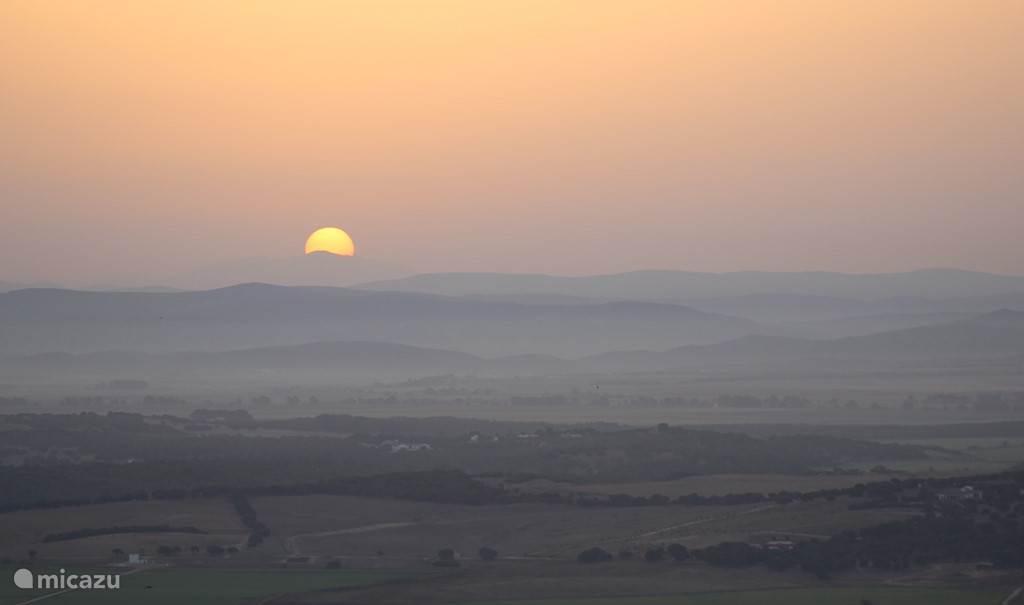 zonsopkomst vanaf dakterras
