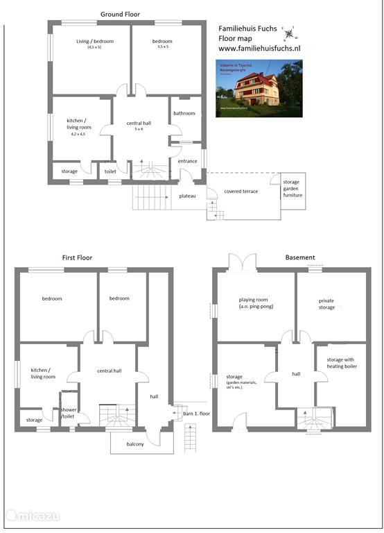 plattegrond van het huisfloorf