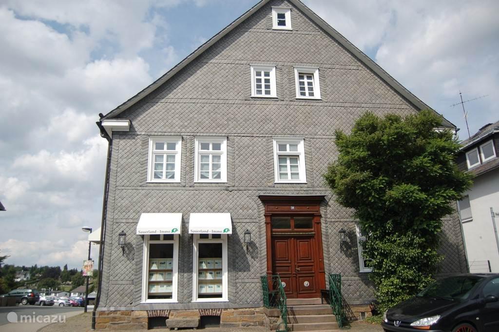 Mountainbiken, Duitsland, Sauerland, Winterberg, appartement Haus in der Mitte