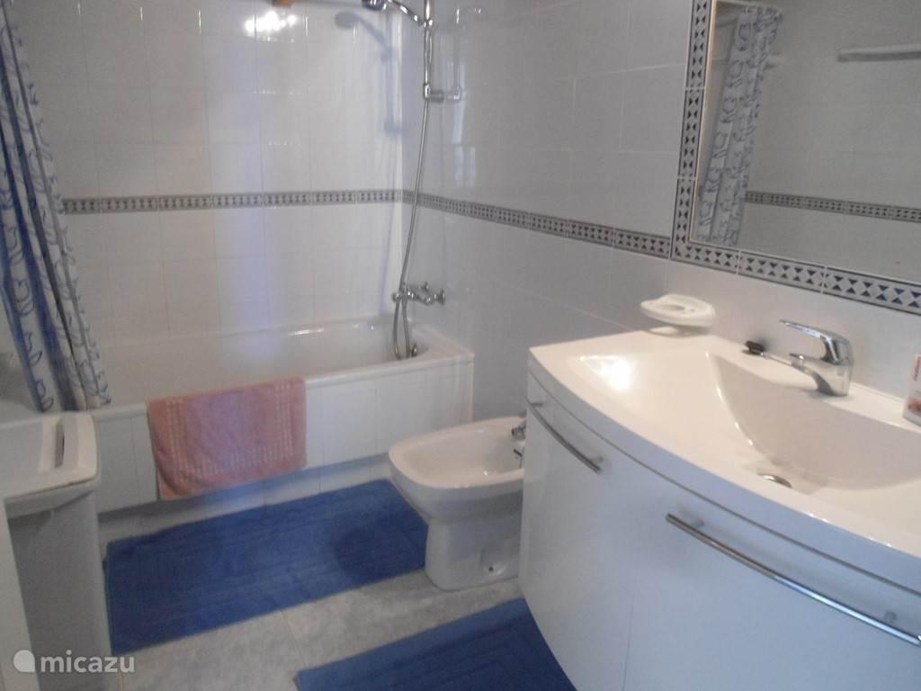 Badkamer bovenverdieping met toilet