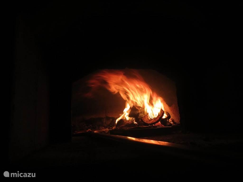 Originele houtgestookte pizza oven