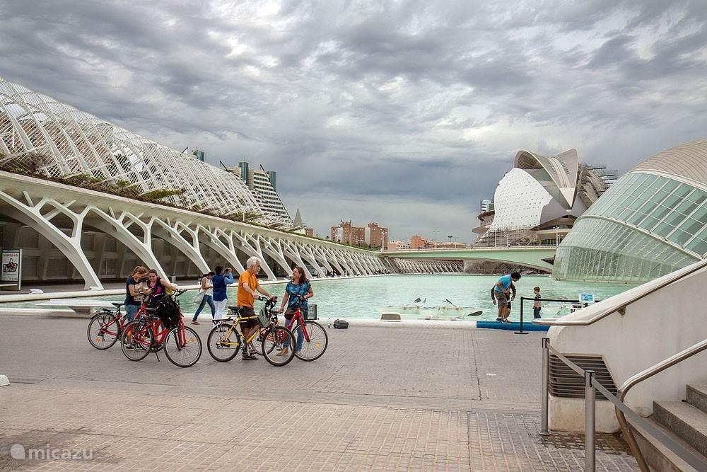 Het moderne deel van de stad, de Stad der Kunst en Wetenschappen.