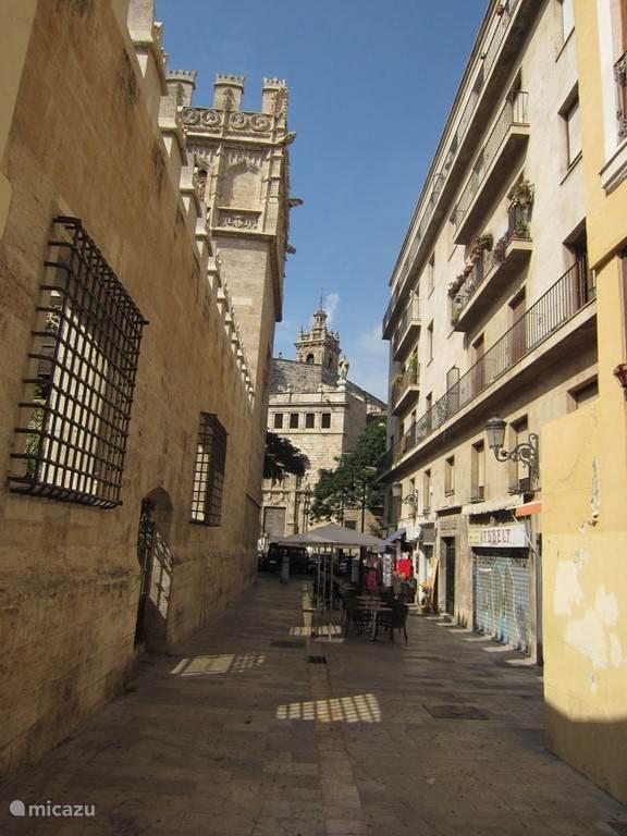 La Lonja (links), de zijdebeurs, staat op de lijst van UNESCO, een prachtig gebouw.