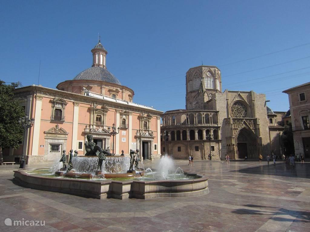 Plaza de la Virgen, het grote plein van de kathedraal