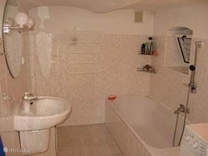 De badkamer beneden inclusief ligbad