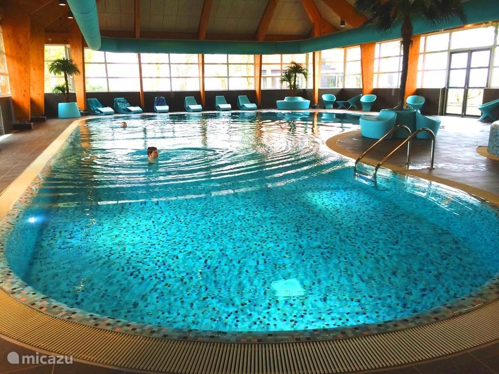 Verzorgd zwembad met wellness ruimte (sauna, stoombad en zonnebanken)
