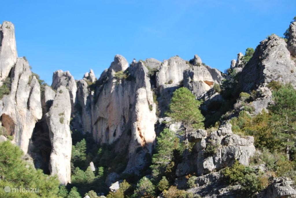 Natuurgebied Els Ports 30 km afstand
