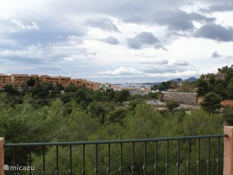 uitzicht vanaf balcon