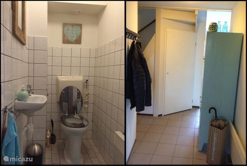 de hal en het toilet