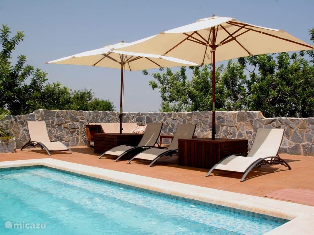 Het zwembad met terras