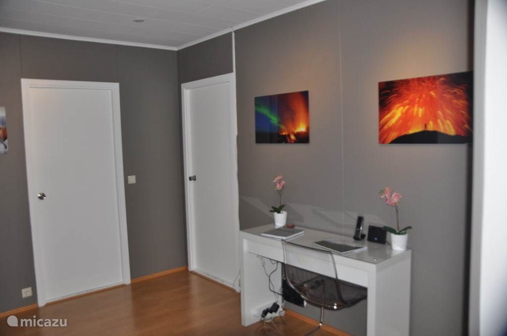 Corridor with desk