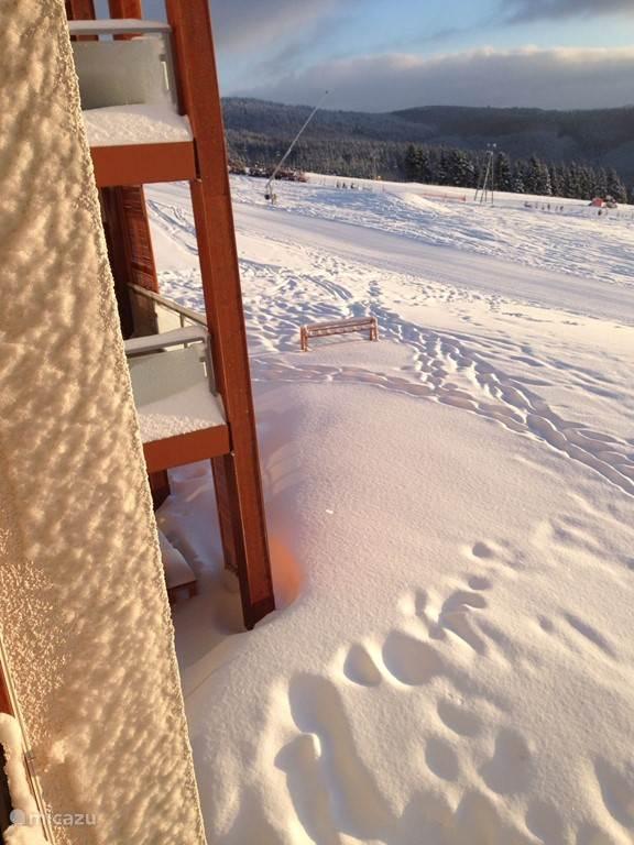 Where is the ski rack