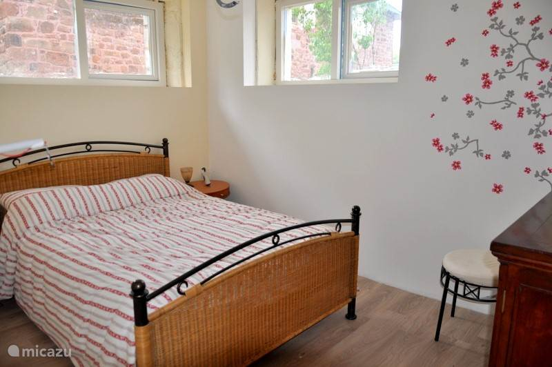 One of the rooms with double beds