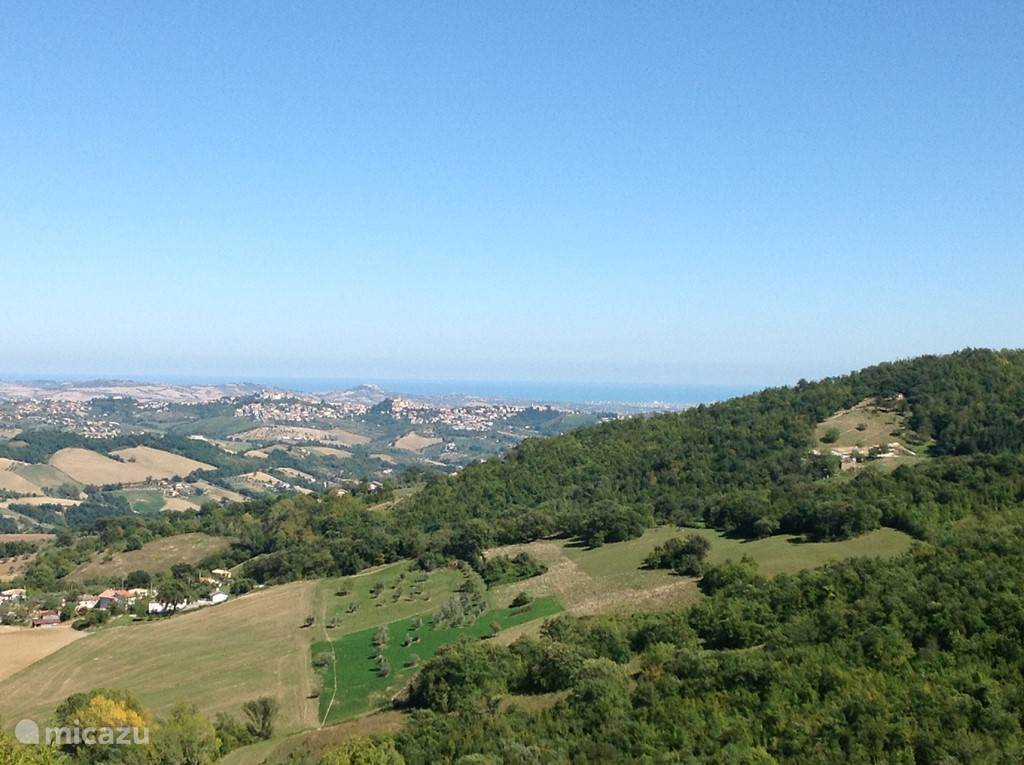 View from the mountains to the sea