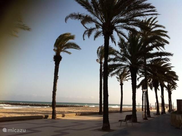 Boulevard en strand in Cubelles