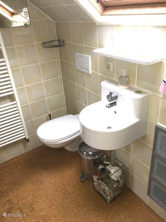 Toilet-doucheruimte boven