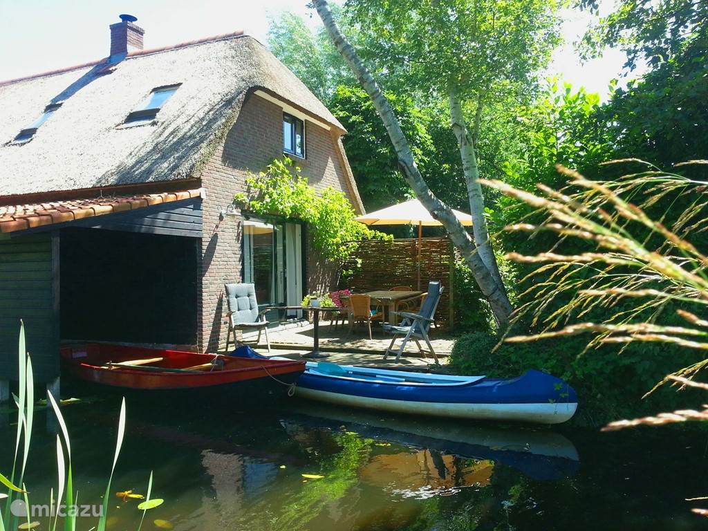 Zeilen, Nederland, Overijssel, Giethoorn, vakantiehuis Giethoorn Lodge