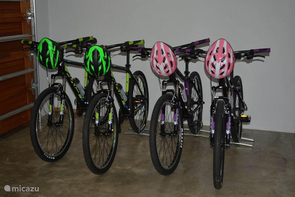 Voor onze gasten staan 4 mountain bikes gereed.