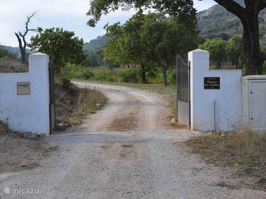 The entrance gate
