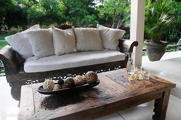 Lounge area op terras