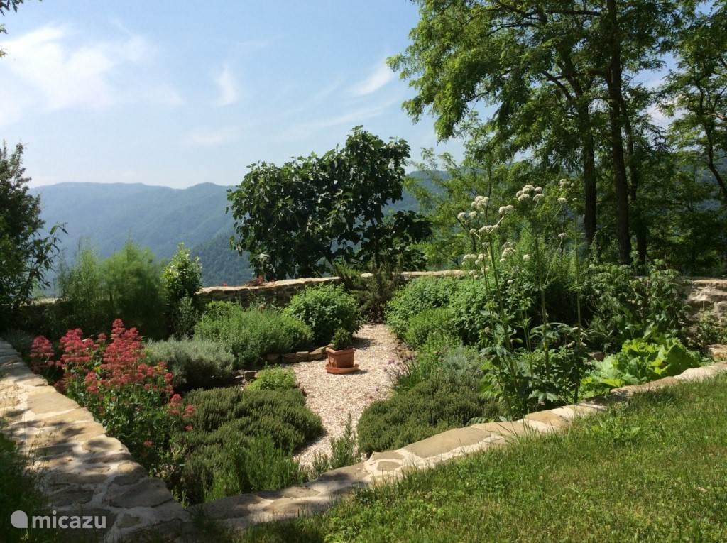 Uitzicht vanaf terras  appartement Magnolia.