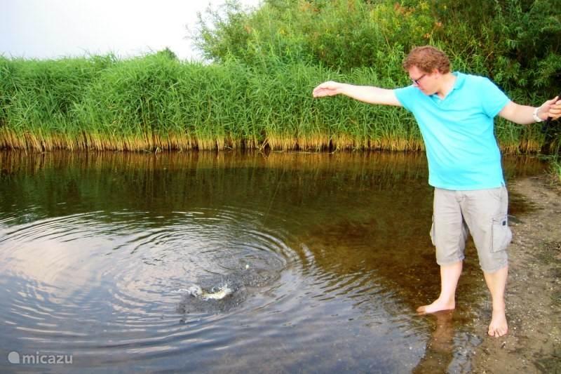 Vissen vanaf uw privé strand.