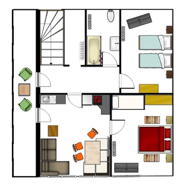 Plattegrond Keuken Restaurant : Appartement Haus Im Lungau in Sankt Michael Im Lungau, Salzburgerland