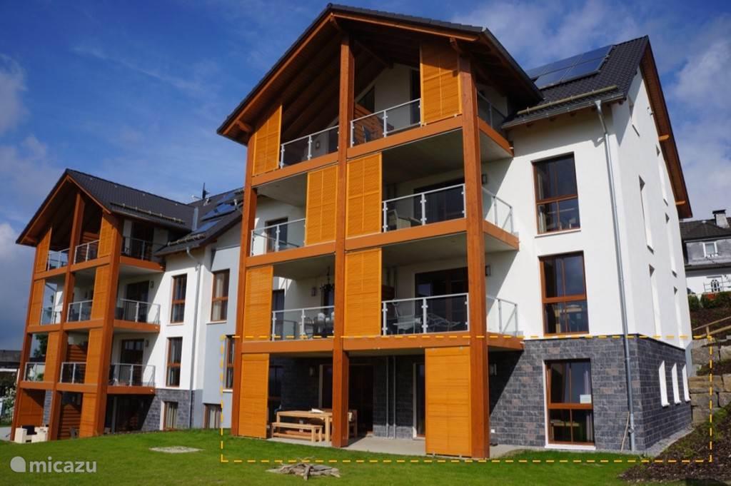 Nieuw, modern appartement met luxe afwerking en prachtig uitzicht op het dal.