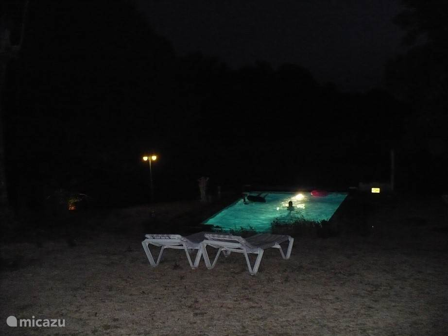 The swimming pool at night,
