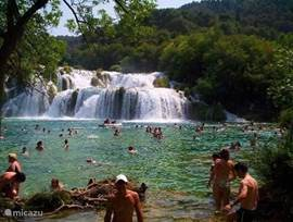 The Krka waterfalls, a national park, where swimming and can be. Walk Highly recommended!