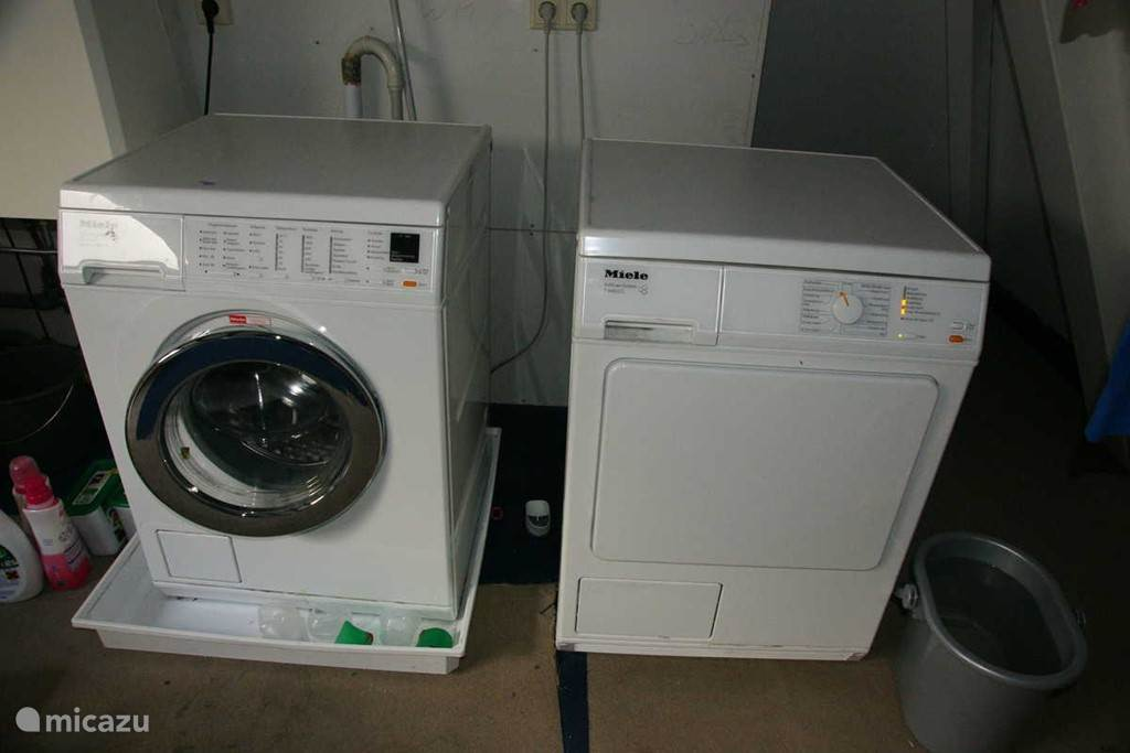 Wasmachine en wasdroger (Miele)