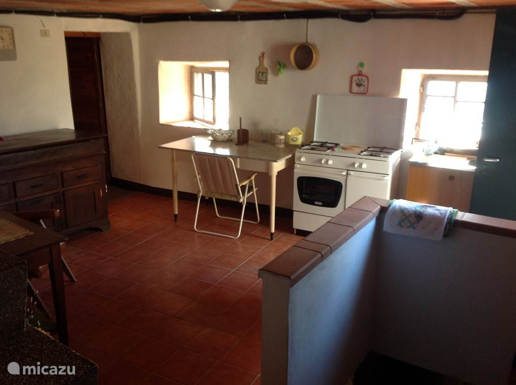 Keuken in de kelder