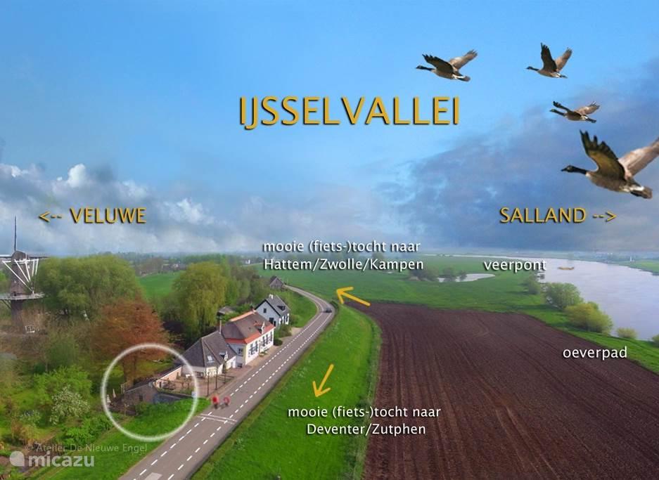 Mooie fietstochten in één van de drie natuurgebieden IJsselvallei, de Veluwe of Salland.
