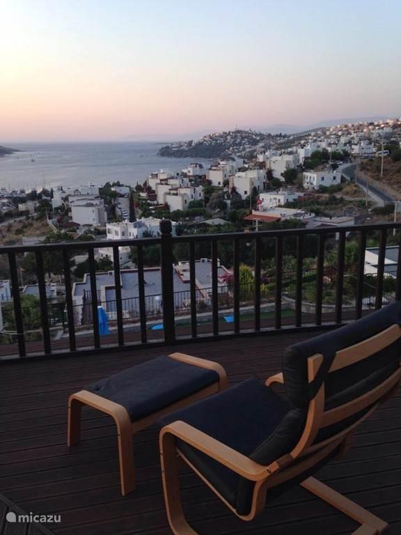 Uitzicht van op het terras 2 de verdieping