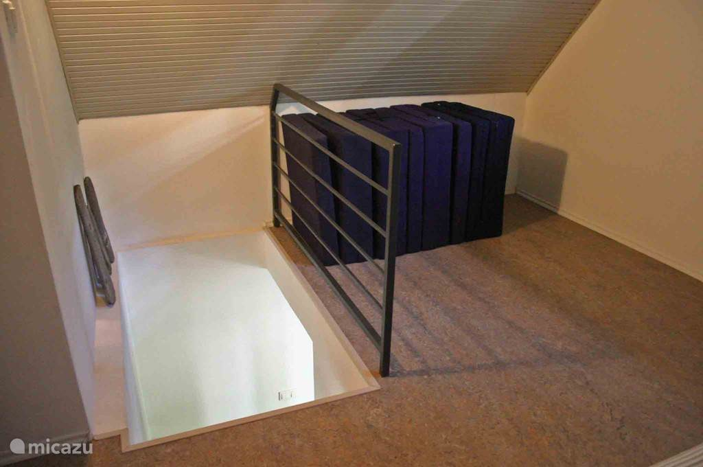 The stairs and mattresses