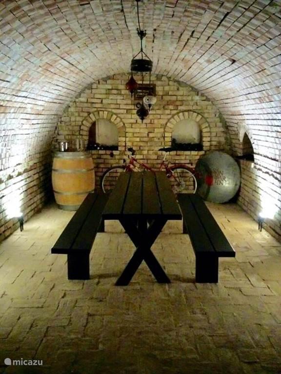 The wine cellar for refreshment