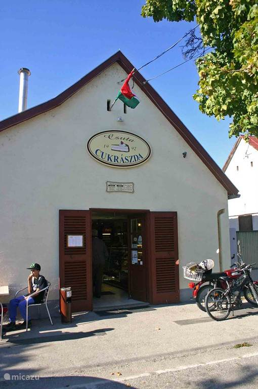 An award winning ice cream shop in the village