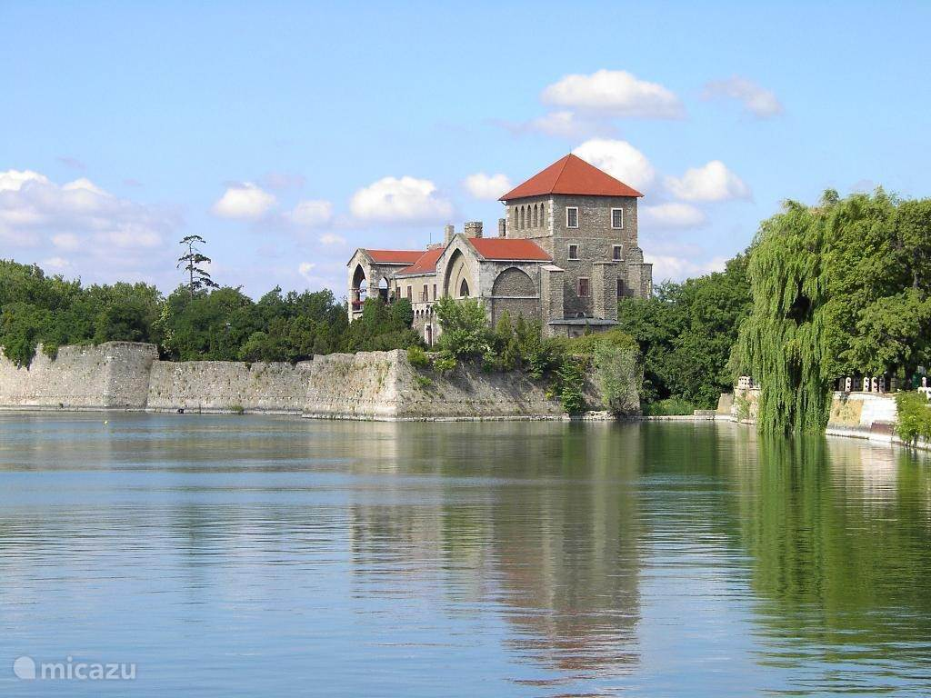 The Tatá town with the lake and castle
