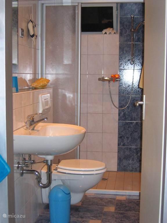 Badkamer op begaande grond