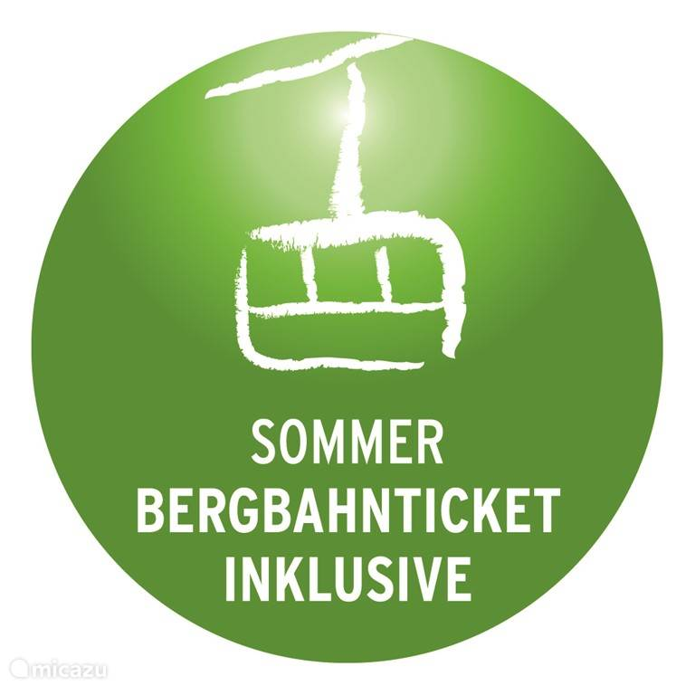 Bergbahn ticket is inclusief!