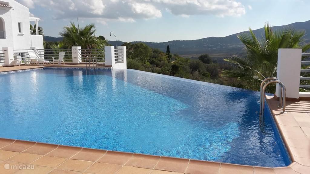 Prachtig groot zwembad met zonneterrasPool mit sonne