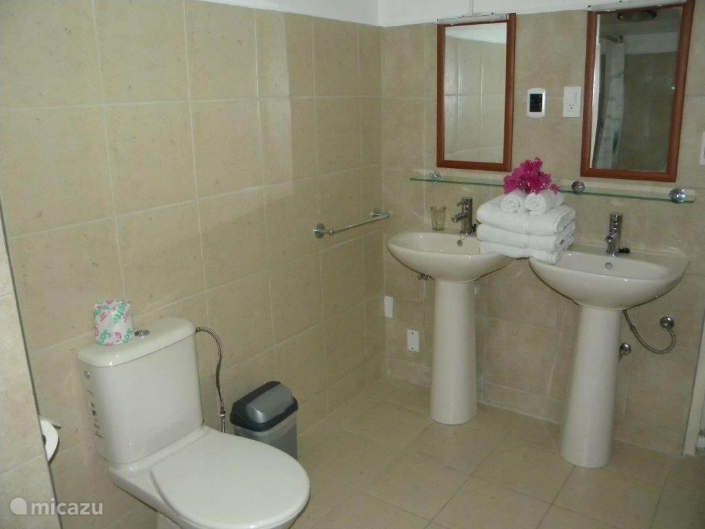 De badkamer voor de 2e en 3e slaapkamer