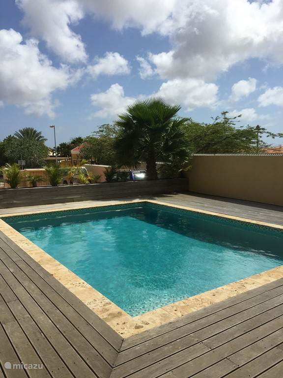 Communal swimming pool with sundeck