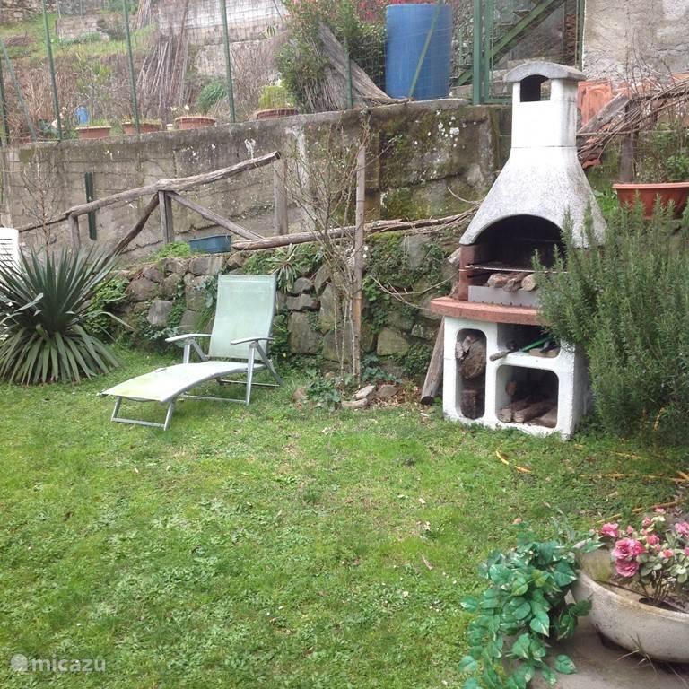barbecue in de tuin