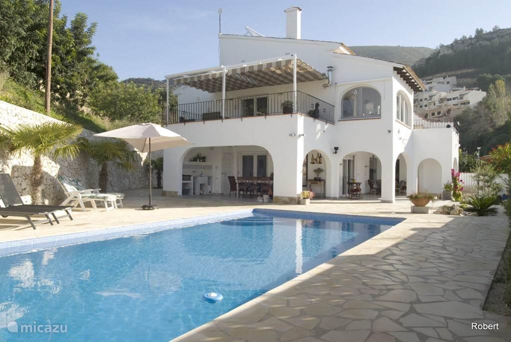Vakantiehuis Spanje, Costa Blanca, Benitachell villa Villa Emma, 2 aparte verdiepingen.