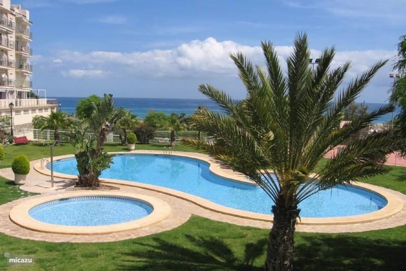 Boek nu snel uw vakantie voor 2017 ! Prachtig hoek-appartement aan de zee in rustig complex nabij Benidorm en Alicante. Met 3 Balkons zeezicht !