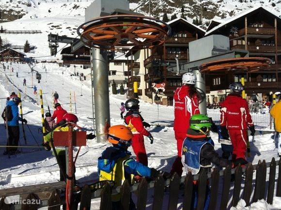 Bij de skilift