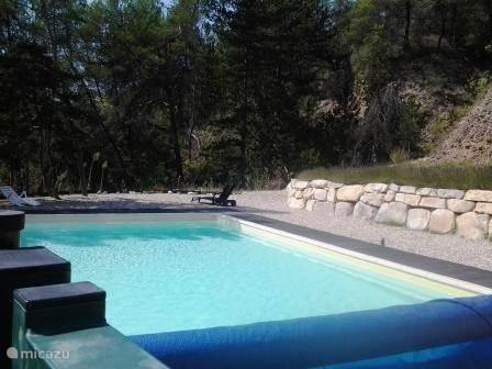 zwembad met omheining en alarm